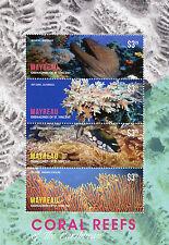 Mayreau Grenadines St Vincent 2014 MNH Coral Reefs of Caribbean 4v M/S Moray Eel