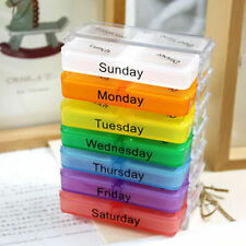Medicine Weekly Storage Pill 7 Day Tablet Sorter Box Pills Boxes Container Case