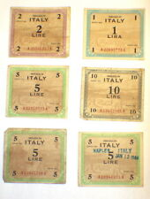 Lot of 22 Italian Lire Bank Notes