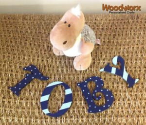 Decorative Personalised Wooden Bedroom Door Letters Name Plaque or Toy Box #43