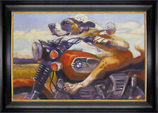 """Fast and Furriest"" Print by Connie Townsend - Framed Canvas"