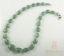 Aquamarin Kette grün blaue Aquamarine mit Perlen Halskette für Damen 51 cm