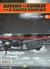 AVIONS DE COMBAT 41 WW2 HENSCHEL Hs 129 B-1 ; LUTTE ANTICHAR LUFTWAFFE