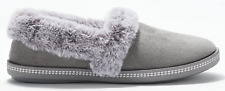 Skechers Plush Faux-Fur Slippers Cozy Campfire Gray