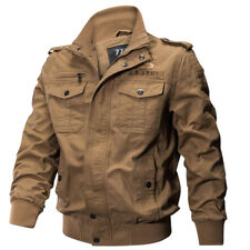 New Men's Military Style Slim Fit Zip Jacket Air Force jacket Military Coat 240