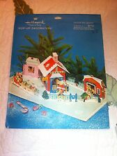 Vintage Hallmark Plans A Party  Christmas Fold Out Display Santas Toy Shoppe