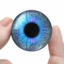 """30mm Blue Fairy Eyeballs Fantasy Creature Taxidermy Glass Doll Eyes 1.2"""" Inch"""