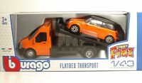 "Bburago 31405 Car Hauler w/MINI COOPER S ""Orange"" - METAL 1:43"