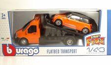 "Bburago 31405 Car Hauler w/MINI COOPER S ""Orange"" - METAL 1:43"