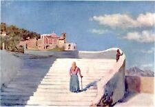 Atrani: Panorama Pittoresco. Costa d'Amalfi. Cromolitografia + Passepartout.1904