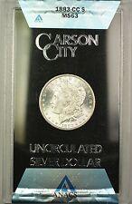 1883-CC GSA Hoard Morgan Silver Dollar $1 ANACS MS-63 (Better Coin) (1Q)