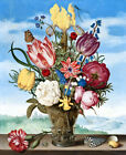 Classical still life Flowers in a vase oil painting HD printed on canvas L1789