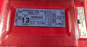 1955 Ticket Pass Norfolk Tars Last Game Ever New York Yankees Affiliate Mt