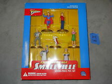 I3_6 DC Direct Lot HOME OF SUPERBOY SILVER AGE SMALLVILLE SEVEN 7 PIECE PVC SET