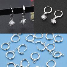 50PCs DIY Handmade Jewelry Findings Sterling Lever Back Drop Hoop Earring Pop