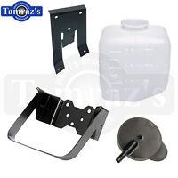 62-72 GM Chevy Windshield Washer Jar Bottle Reservoir Cap /& Bracket 3 PIECE KIT