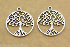 20pcs Silvery Tree of Life Charm Pendant charm finding beads