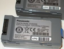 Panasonic Battery Packs CF-VZSU53W, for Toughbook CF-U1 H1 H2, Lot of 2