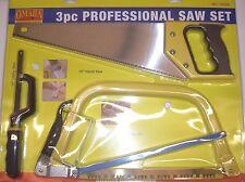 Omaha Tool 70206 Professional Saw Set 3pc Utility Hacksaw, Hand Saw, Bow Saw