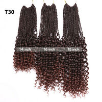 "14-18"" Senegalese Twist Braids Curly locs Synthetic Crochet Braid Hair Extension"