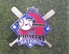 """2007 CNY Pioneers Cooperstown Little League 1 1/2"""" Pin Baseball"""