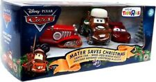 Disney Cars Mater Saves Christmas 3 Pack Santa Car RARE NIB