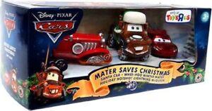 Disney Cars Mater Saves Christmas 3 Pack Santa Car RARE NIB