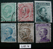 ITALY 1906 : DEFINITIVE SET OF 6 USED STAMPS:  LOT 4