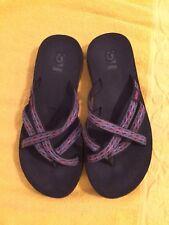 441c95211f84 WOMENS TEVA OLOWAHU Black Pink Blue FLIP FLOP SANDALS Size 5