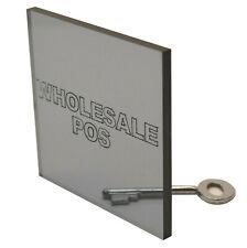 Gris Teinté perspex Acrylique Plaque - 8mm Gris 9T21 Pour Bateau Windows
