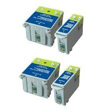 4PK / 2Set BK&Color Ink For Epson 40 T040 T040120 T041 T041020 Stylus C62 CX3200
