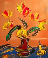 AMAZING FLOWERS  Abstract Modern Original Oil Painting by Mark Kazav  65UIH5J
