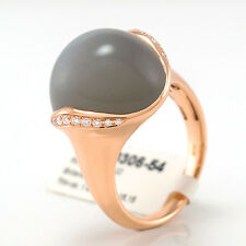 Ring 18K RG - 1 Mondstein 15,15 ct u. 22 Brill. 0,13 ct TW/vsi NEU UVP = 2.929,-