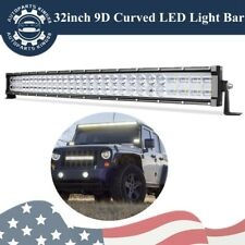 Dual Row 32inch 420W Curved LED Light Bar Spot Flood Truck Offroad ATV PK 30/34