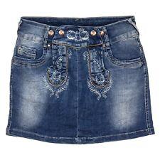 hangOwear Damen Jeans Rock Trachtenrock Jeansrock Minirock Trachten  Oktoberfest 0a6fa82a8a
