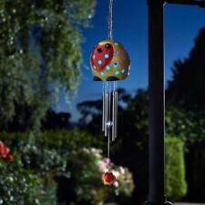 Robin Wind Chime - LED Solar Powered Colour Change Garden Decoration Festi