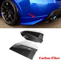 2xCarbon Fiber Rear Bumper Splitter Flaps Lip for Toyota GT86 Subaru BRZ 2013-16