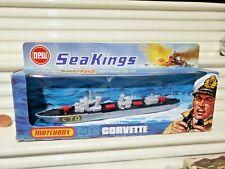 Rare Lesney Matchbox 1975 Sea Kings K-302 C70 Corvette Ship Black Deck New Boxed