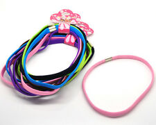 6 x LONG ELASTIC HEAD BANDS/HAIR BANDS SPORTS NEW