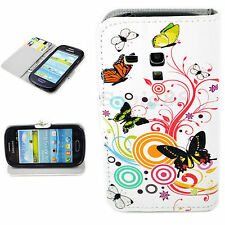 Stand Flip Leather Pouch Wallet Cover Case For Samsung Galaxy S3 III Mini i8190