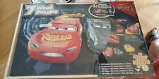 Disney PIXAR CARS 7 Wood Puzzles in wooden Box New & Sealed