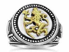 Norse Lion Mens Coin ring Bluekorps Nordnaes Battalion Sterling silver .925