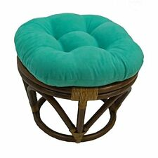 International Caravan Bali Rattan Papasan Cushion Stool-emerald