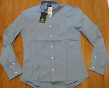 """$270 Mens McQ Alexander McQueen """"Harness"""" Sport Shirt Storm Blue 54 US 44"""