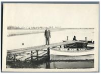 Egypte, Vue du Canal de Suez  Vintage silver print.  Tirage argentique  11x1