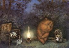 Hedgehog in the Fog Norstein's hand-signed  high quality print (Hedgehog & Bear)