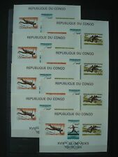 CONGO 1964 BLOC x 8 IMPERFORATED MNH** COT. 120 EUR / OLYMPIC GAMES 1964