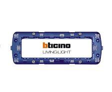 BTICINO LIVING LIGHT antracite supporto 7 moduli placche living light LN4707