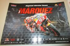 Marc Marquez  (Spain) signed Repsol Honda 2017 Moto GP Poster (signed in gold)