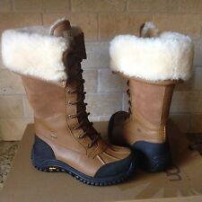 UGG Adirondack Tall Otter Leather Sheepskin Waterproof Snow Boots US 6.5 Womens
